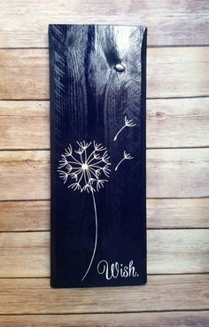 Dandelion Wish Repurposed Pallet Wood Sign by SparklesSawdust on Etsy www.etsy.com/... #Woodworking