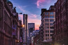 sunsets in SoHo
