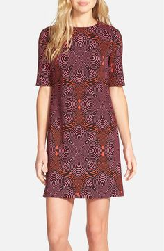 Picking up this fun, retro dress from the #NSale! A swirling, kaleidoscopic print covers the easy-going silhouette.