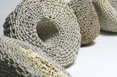 """Untitled by Brooklyn-based American ceramic artist Phyllis Kudder Sullivan. """"Her works with ceramic & porcelain have beautiful surface effects based on interlacements & knots, with soft & warm colors."""" via patternprints journal"""