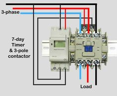 how to wire contactor block delay timer http. Black Bedroom Furniture Sets. Home Design Ideas