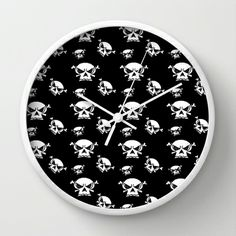 Skull Boys  Wall Clock by Celeste Sheffey of Khoncepts - $30.00