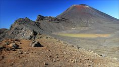 Mount Ngauruhoe active stratovolcano (2291m) - Ngauruhoe erupted 45 times in the 20th century, most recently in 1974 - Tongariro Alpine Crossing - North island - New Zealand