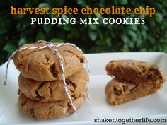 Harvest Spice Chocolate Chip Pudding Mix  Cookies  l  shakentogetherlife.com