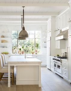 White and bright traditional modern farmhouse in California by Steve and Brooke Giannetti in C Magazine