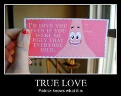 Patrick knows what love is� Patrick Spongebob, Spongebob Memes, Spongebob Squarepants, Funny Patrick, Watch Spongebob, My Funny Valentine, Valentine Day Cards, Nerdy Valentines, Diy Valentine