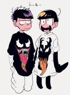 Osomatsu-san- Ichimatsu and Jyushimatsu Hot Anime Boy, Anime Guys, Ninga Turtles, Gekkan Shoujo Nozaki Kun, Ichimatsu, Stuff And Thangs, South Park, Little Pony, Otaku