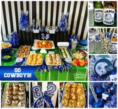 Dallas Cowboys Football Party. Football party ideas.  {Made by a Princess Parties in Style}