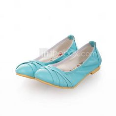 Leatherette Flat Heel Closed Toe Flats Party / Evening Shoes (More Colors)