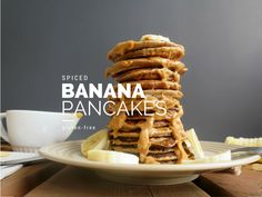 Banana Spiced Pancakes #healthy #dessert #recipe #breakfast #banana #pancakes