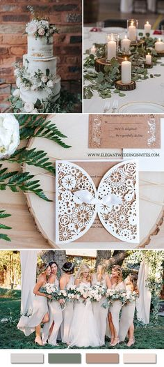 neutral hues elegant rustic wedding ideas with matching invites