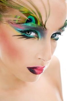 Jamie Warmanberg posted Fantasy Peacock Makeup Pictures [Slideshow] to his -make up tips- postboard via the Juxtapost bookmarklet. Eye Makeup Tips, Makeup Art, Beauty Makeup, Makeup Ideas, Games Makeup, Makeup Designs, Exotic Makeup, Movie Makeup, Makeup Contouring