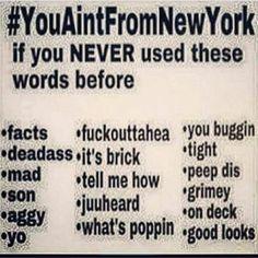 "New Yorkers be like....The only one I never used or heard was ""aggy"" !  Lmfao  #nyc #newyorkstateofmind #lmfao #ratchet #bitchesbelike  #flightattendant #flightattendants #crewlife #crewfie #aviation #aviacao #boeing #airbus #layover #comissariosdebordo #fitfam #instafit #beastmode #consciousness #zen #instamood #workflow #success #motivation #namaste #jj #rp #thots #friends #qotd by ayahuasca380"
