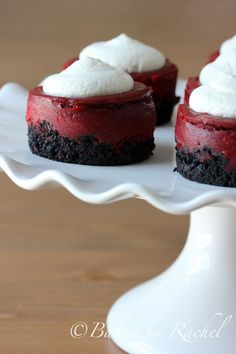 Mini Red Velvet Cheesecakes - #desserts #sweets #recipe #recipes #cooking #food #foodie #foodporn #MyBSisBoss