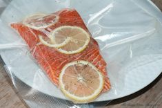 Salmon fillets with the dill, butter and lemon... pre-sous vide!