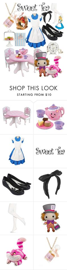 """tea party"" by alethemermaid87 ❤ liked on Polyvore featuring Fisher Price, Melissa, Maison Michel, Hue, Funko, Olympia Le-Tan, Disney, Religion Clothing and Martha Stewart"