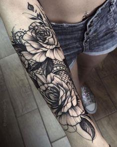 Résultats de recherche d'images pour « lace and jewel half sleeve tattoo »