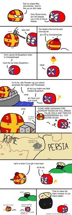 The death of Sassanid Persia : polandball – WorldBall