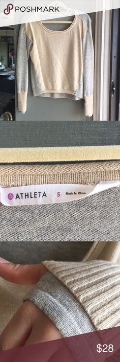 """Athleta extra fine merino wool sweater Worn once or twice, beautiful warm cozy fall sweater! Got too small of a size for my broad shoulders and long arms (I'm 5 10"""" 🙈). Must have for fall, super cute with a pair of skinny jeans and booties! 🍃 🍁🍂 Athleta Sweaters Crew & Scoop Necks"""