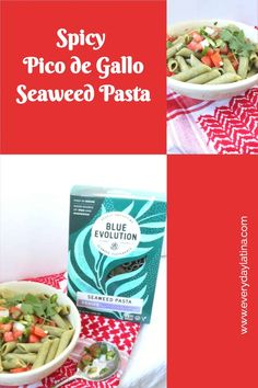 Pico de Gallo Seaweed Pasta - Everyday Latina Healthy Mexican Recipes, New Recipes, Group Meals, Family Meals, Tasty, Yummy Food, Dessert For Dinner, Mexican Dishes, Pinterest Recipes