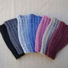 Knit Fingerless Gloves in a Variety of Colours, Wrist Warmers Fingerless Gloves Knitted, Knitted Hats, Color Secundario, Wrist Warmers, Dusty Pink, Knit Patterns, Snug Fit, Colours, Throw Pillows