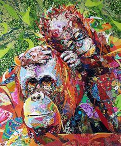Art Textile, Textile Artists, Asian Quilts, Collage Art, Collages, Sensory Art, Fabric Art, Scrap Fabric, Landscape Quilts