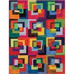 Colorful mismatched blocks.