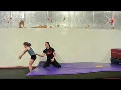 Back handspring drill - handspring to stomach Gymnastics Levels, Gymnastics Floor, Tumbling Gymnastics, Gymnastics Skills, Gymnastics Coaching, Gymnastics Videos, Gymnastics Workout, Cheer Coaches, Cheer Stunts