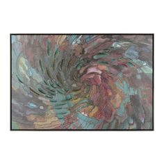 Is your wall decor boring you? The Swirled Mosaic Framed Canvas Art Print from Kirkland's is perfect for a sophisticated pop of color for any room in your home!
