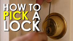 How to pick a tumbler lock.  Manly survival skills, lol
