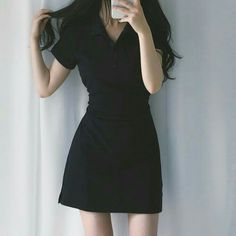 Korean Girl Fashion, Korean Fashion Trends, Ulzzang Fashion, Asian Fashion, Cute Casual Outfits, Stylish Outfits, Cute Dresses, Short Dresses, Estilo Kylie Jenner