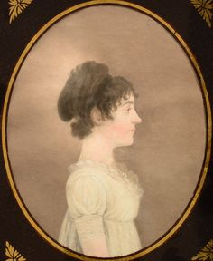 Late 18th/Early 19th Century Watercolor and Pastel Portrait of a Young Lady