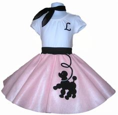 New 3pc Toddler Size Prancing Poodle Skirt by sarahspoodleskirts, $45.99