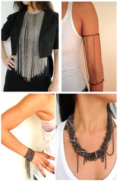 Love this fringe look. Maybe scaled down:) jewelry