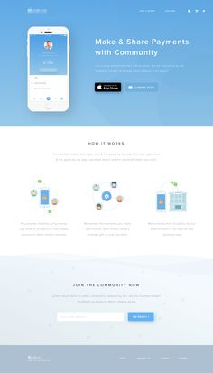 by Ghani Pradita - Landing Page - Ideas of Landing Page - Mobile Payment App Landing Page Design Sites, App Design, Flat Design, Landing Page Inspiration, Website Design Inspiration, Gui Interface, Interface Design, Website Design Layout, Web Layout
