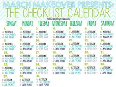 March Makeover Wellness Challenge #fitness #health #healthyliving