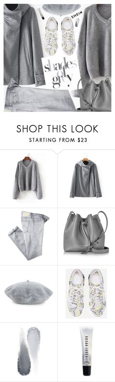 """Shades Of Gray"" by pokadoll ❤ liked on Polyvore featuring AG Adriano Goldschmied, Lancaster, Helene Berman, Clé de Peau Beauté and Bobbi Brown Cosmetics"