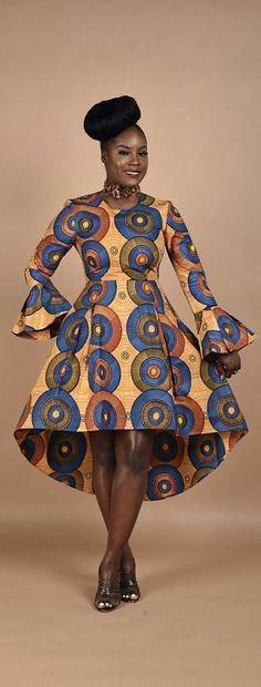 Pleated African print dress with exposed metal zipp. Pleated African print dress with exposed metal zipper. Fully lined with inserted soft net. African Fashion Ankara, Ghanaian Fashion, African Inspired Fashion, African Print Dresses, African Print Fashion, Africa Fashion, African Dress, Nigerian Fashion, African Prints