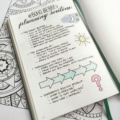 Boho Berry's planning routine