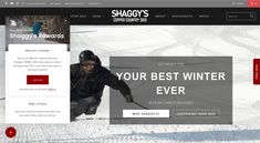 Shaggy's perfectly complements their homepage banner with a dynamic banner image. Ski Gear, Banner Images, Northern Michigan, Shaggy, Workout Gear, Skiing, Health Fitness, Smile, Country