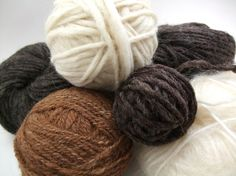 grab bag of natural yarns