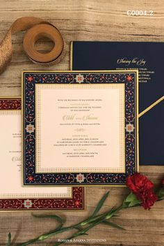 Mughal architecture inspired ornate wedding invitation in a royal blue & deep maroon colour theme. For more design ideas, visit www.rohanaparna.com ——————————————— #rohanaparnainvitations #weddinginvitations #weddingcards #indianweddingcard #reception #weddingcard #shaadi #shaadicard#hinduweddingcard #mehendi #indianwedding #ecard #destinationwedding #weddingcards #royalwedding #mughaldesign #mughalinvite #uniqueweddingcard Indian Wedding Invitation Cards, Wedding Invitation Background, Wedding Invitation Card Design, Luxury Wedding Invitations, Royal Invitation, Invites, Shadi Card, Wedding Card Design Indian, Hindu Wedding Cards