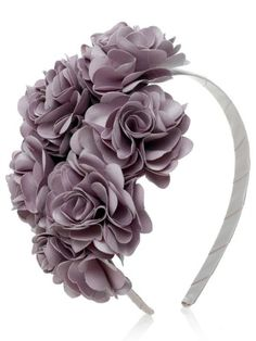 Diy ribbon flower with beads grosgrain flowers with beads t Fascinator Headband, Head Wrap Headband, Diy Headband, Floral Headbands, Fascinators, Headpieces, Carnation Bouquet, Carnations, Headband Hairstyles