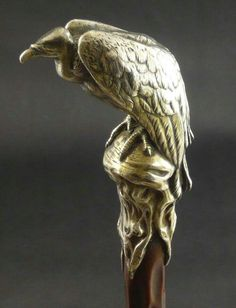 Buzzard/Vulture walking stick