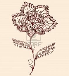 Henna flower. Cute for an ankle...in brown! Not black! ;)