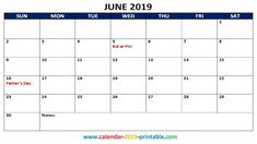 Get June 2019 Calendar with Holidays USA UK Canada Malaysia Singapore NZ SA India Philippines Australia England, January 2019 Holidays United States, January 2019 Calendar Holidays Printable with Notes June Calendar Printable, June 2019 Calendar, Calendar Pages, Holiday Calendar, Months In A Year, Fathers Day, Printables, Printable Templates