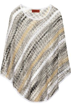 Missoni|Zigzag open crochet-knit poncho|NET-A-PORTER.COM   Still have my poncho my MOM made for me in the 60's