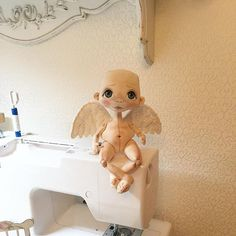 Ангелошка ждёт волосики  #процесс #впроцессе #рабочие_моменты #кукла #куколка #ангел #ангелок #ручнаяработа #ручная_работа #ручнаяавторскаяработа #ручная_авторская_работа #handmade #handmadedolls #dollmaker