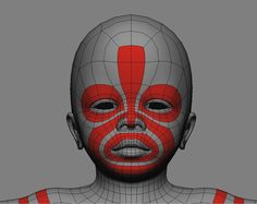 3d character head topology - Bing images