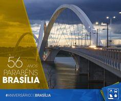 21/04/2016 - Tão jovem, mas tão história! Hoje é o aniversário da nossa capital. Parabéns Brasília, a maior cidade do mundo construída no século XX!    http://www.clubeturismo.com.br/site